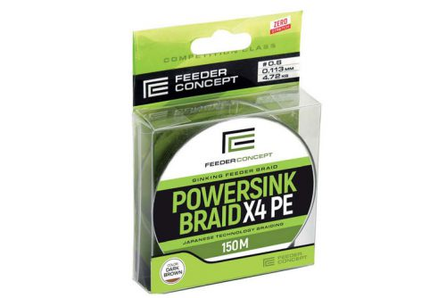 Braided Fishing Line Feeder Concept Powersink Dark Brown X4 PE